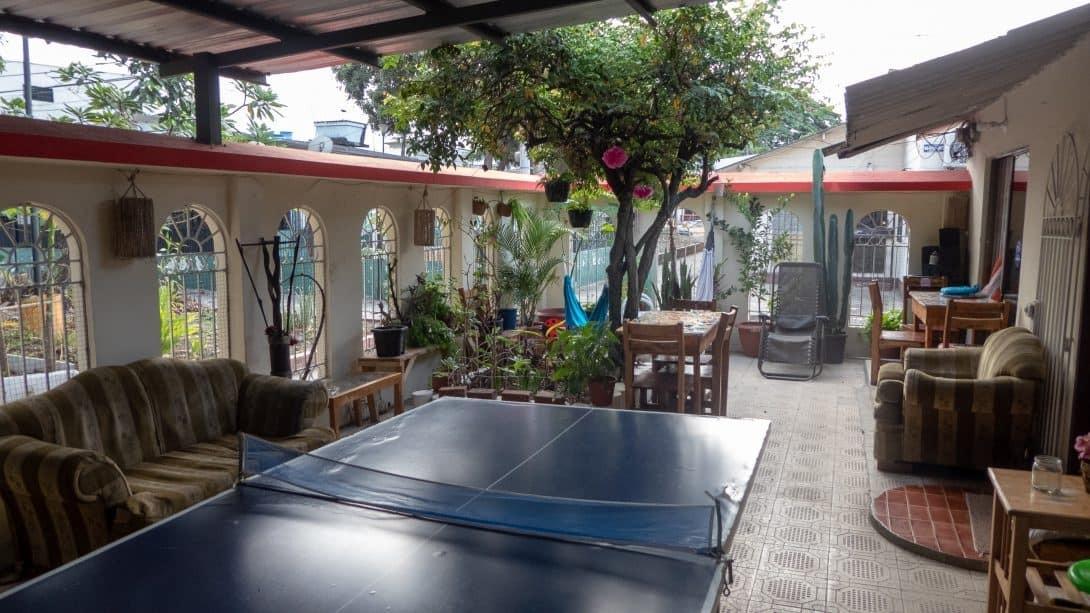 Ping pong table at Casa Michael, Guayaquil