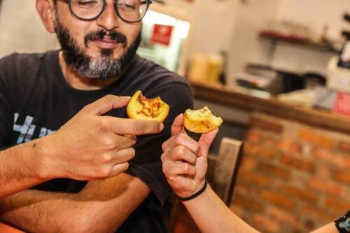 People on Bogota food tour