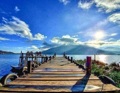 Otavalo Lagoon deck
