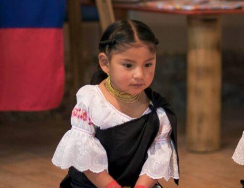 Small child at Otavalo market