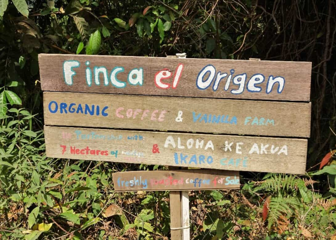 Colombia Finca Sign