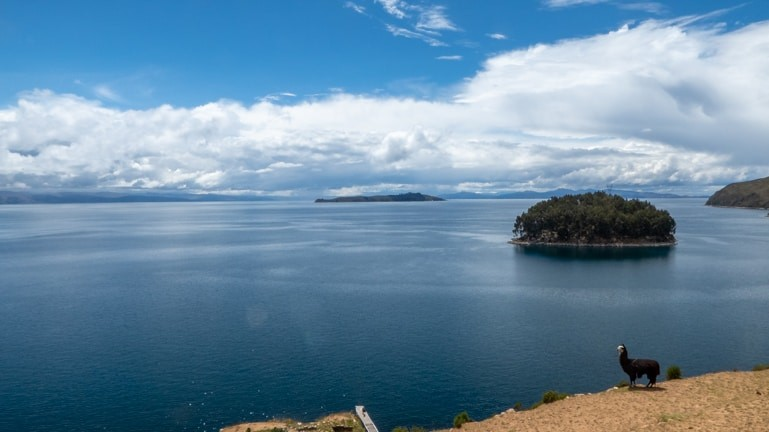 Views over Lake Titicaca from Isla del Sol.