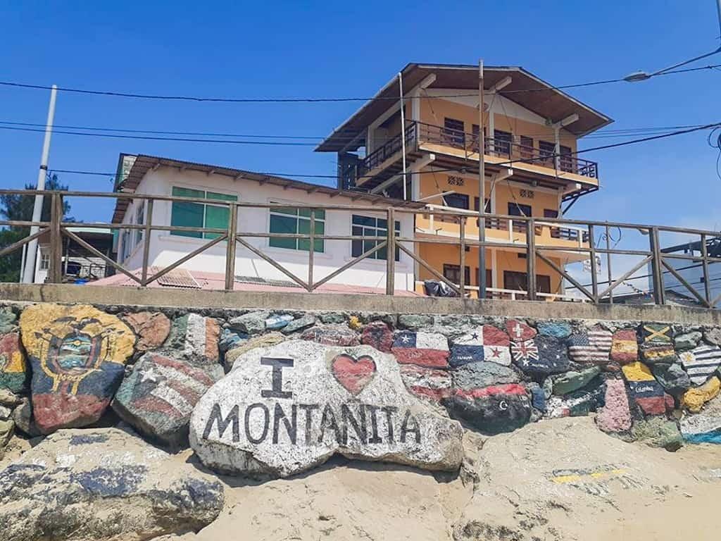 I Love Montañita Sign
