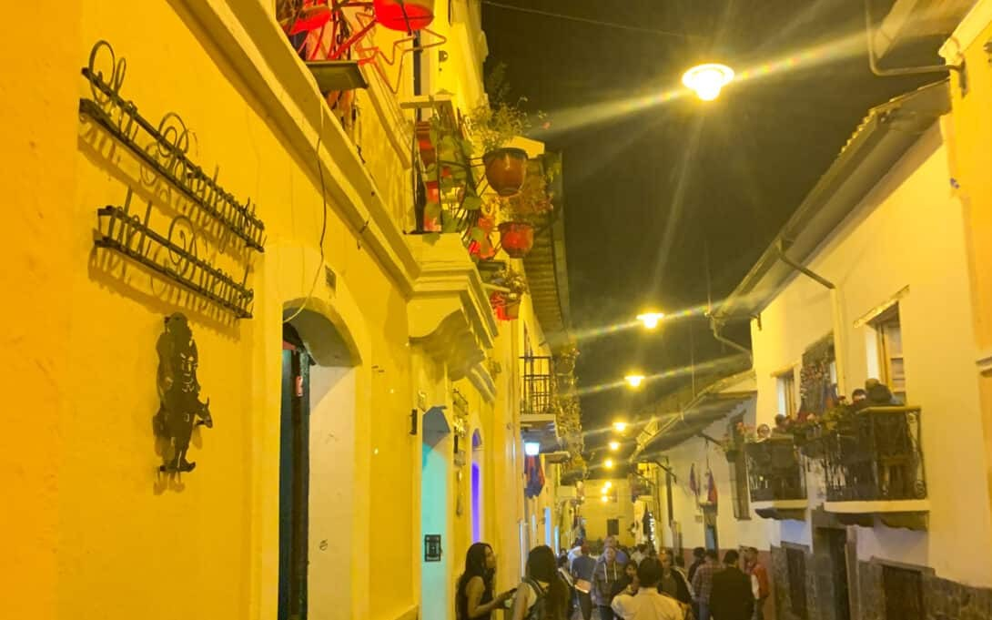 Old Town streets in Quito.