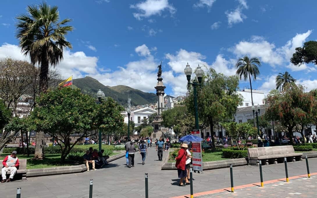 Main Plaza in Quito, Ecuador