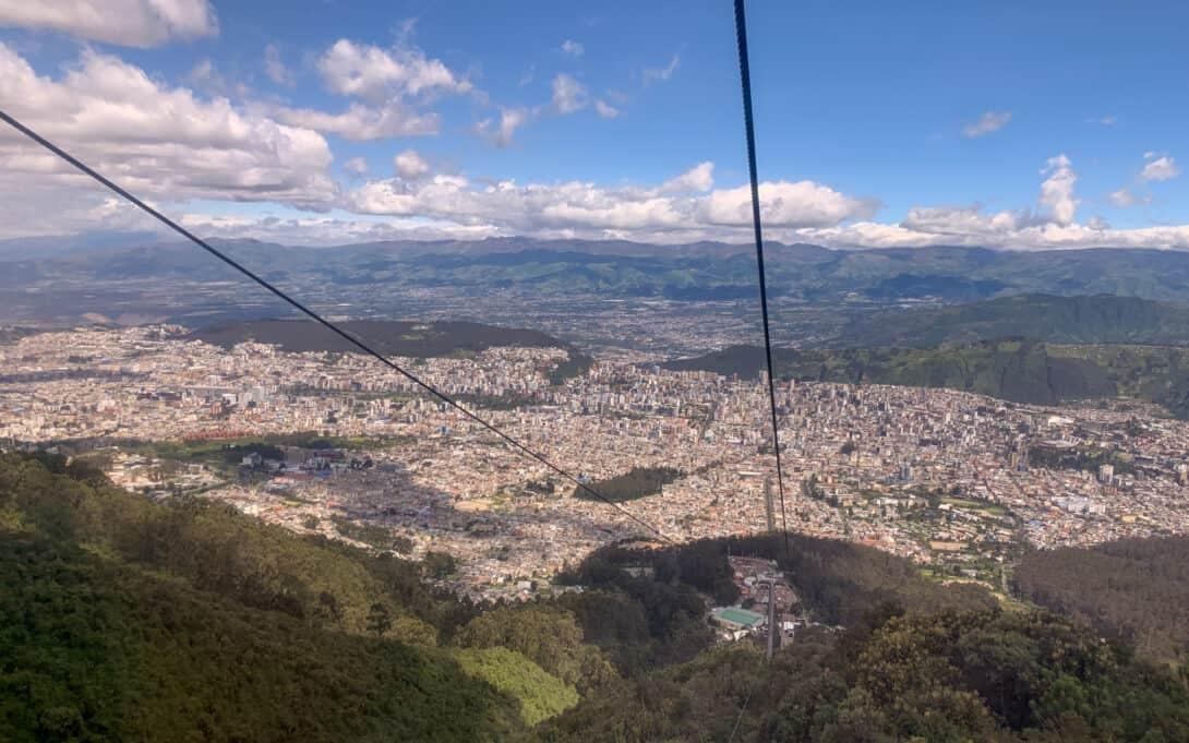 Views from Quito Teleferico.