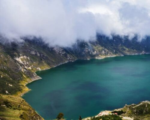 Quilotoa Crater Lake, view from above
