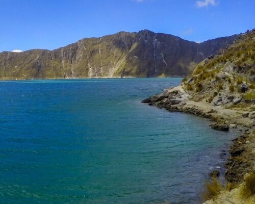 Edges of the Quilotoa Crater Lake