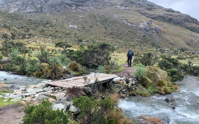 Trekking near to river
