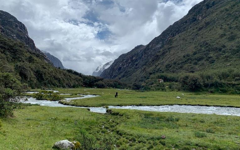 Beautiful green valley close to Huaraz