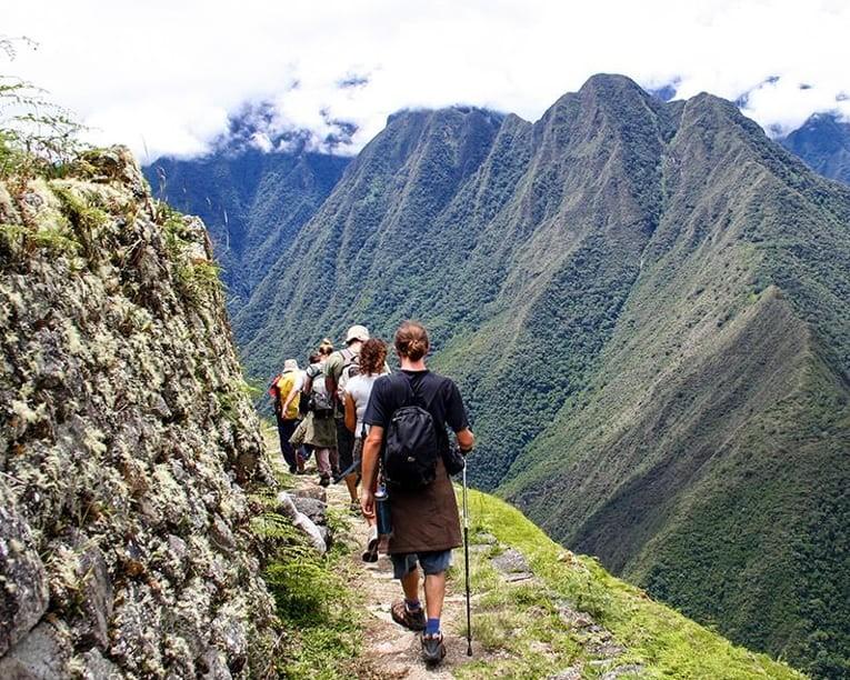 People hiking Inca Trail
