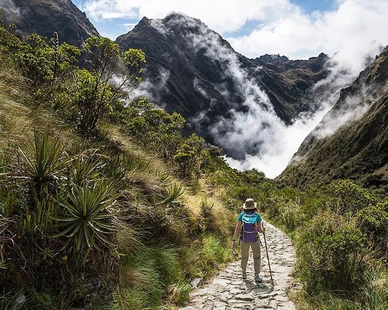 Trekking through Andes mountains