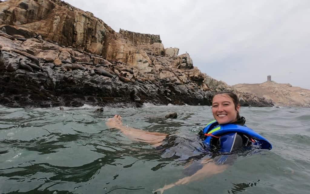 Swimming with Sea Lions at Palomino Island, Peru