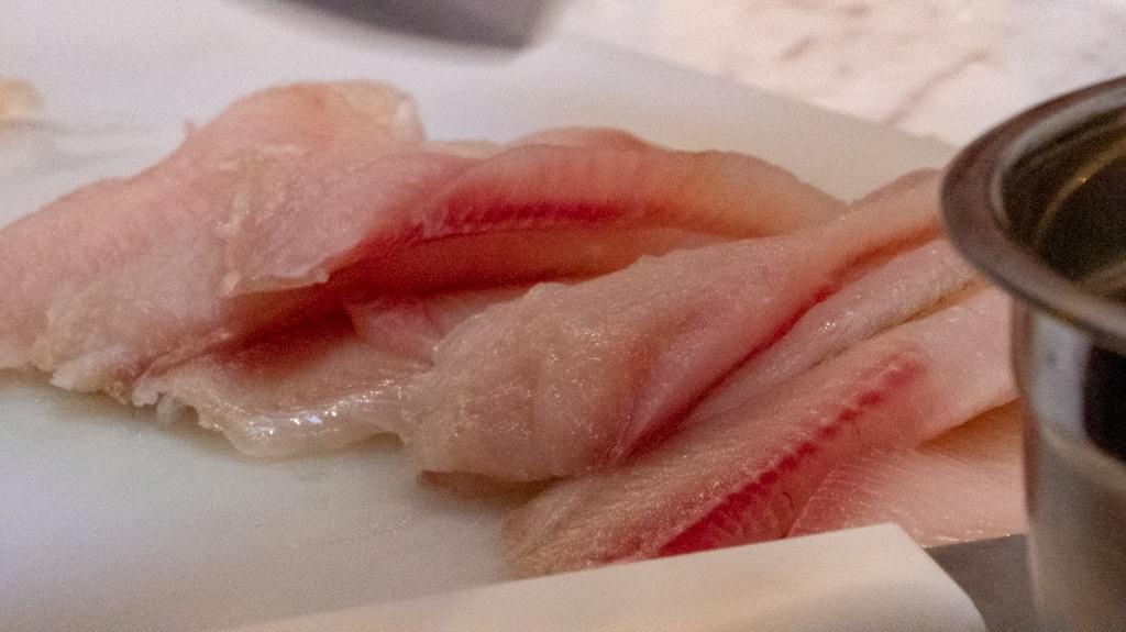 Sashimi cut trout for cebiche.