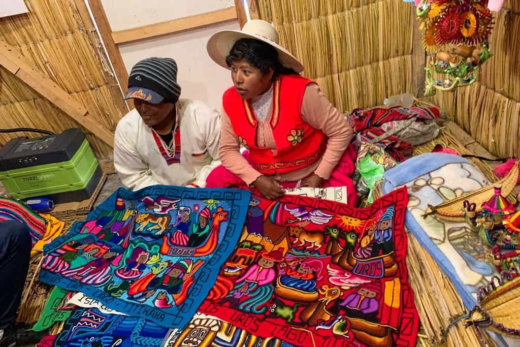 Two locals selling their wares.