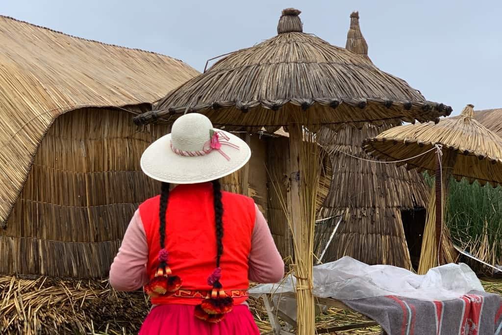 Local lady on Uros islands.