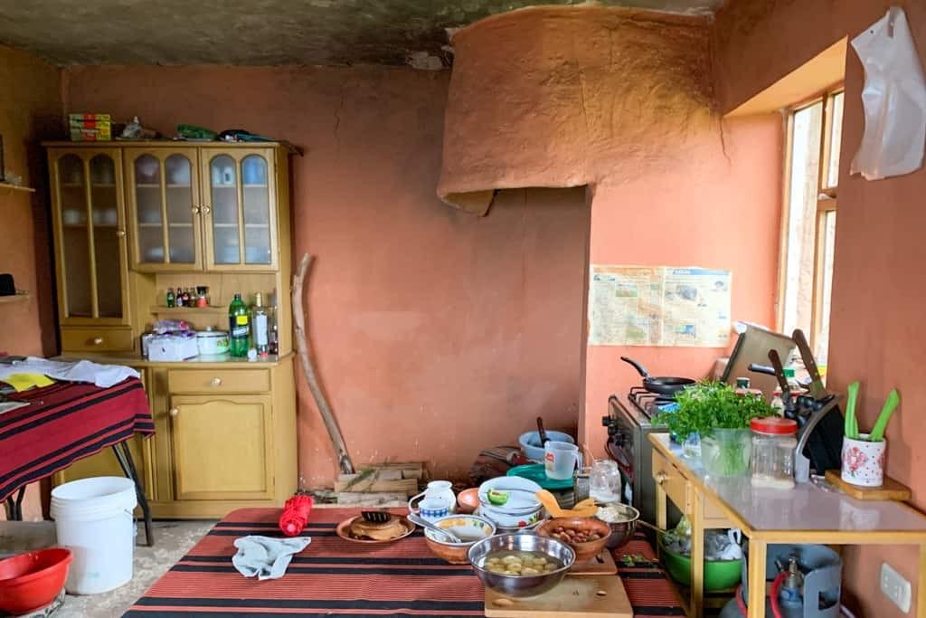 Local homestay kitchen - Amantani Island