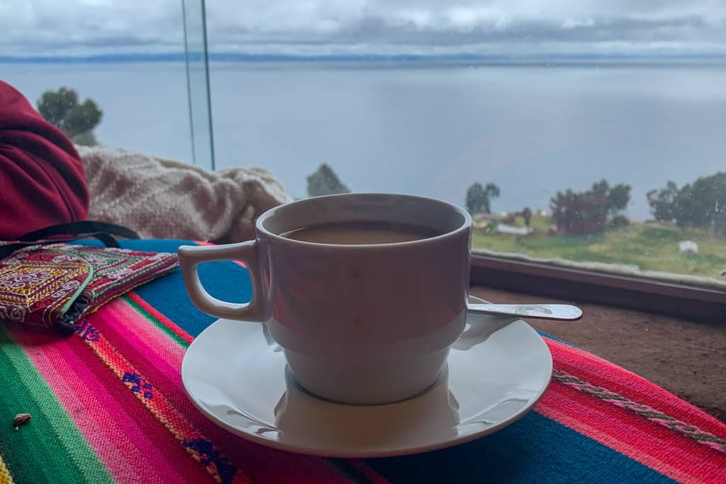 Drink in Peruvian cafe