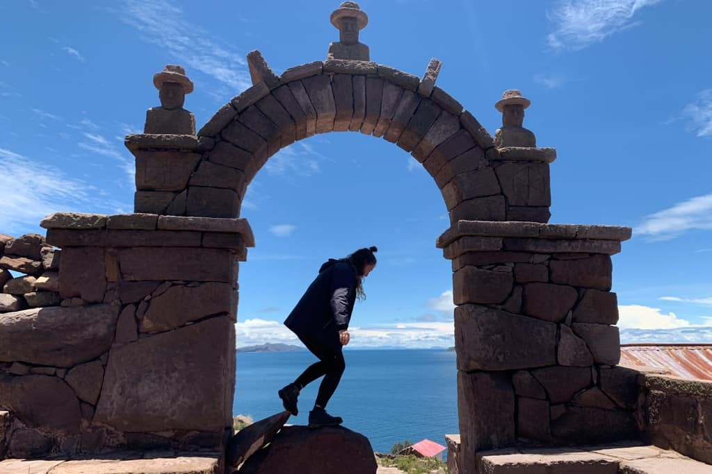 Archway at Taquile Island