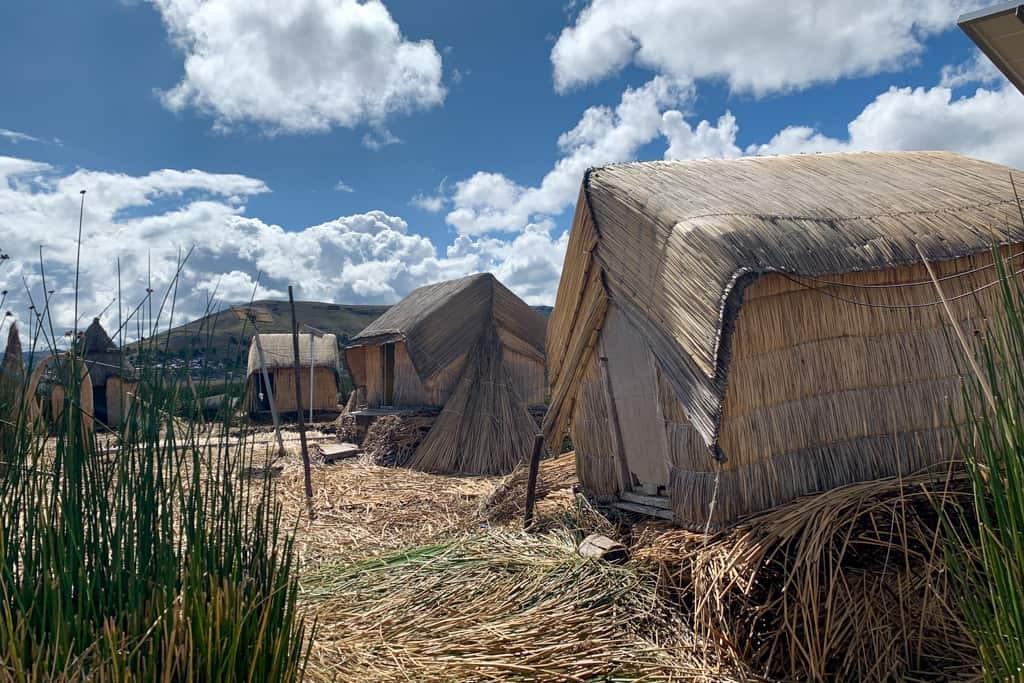 Houses on Uros Islands, Peru