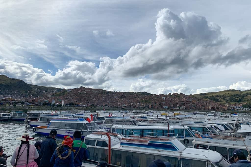 Boats at Puno port.