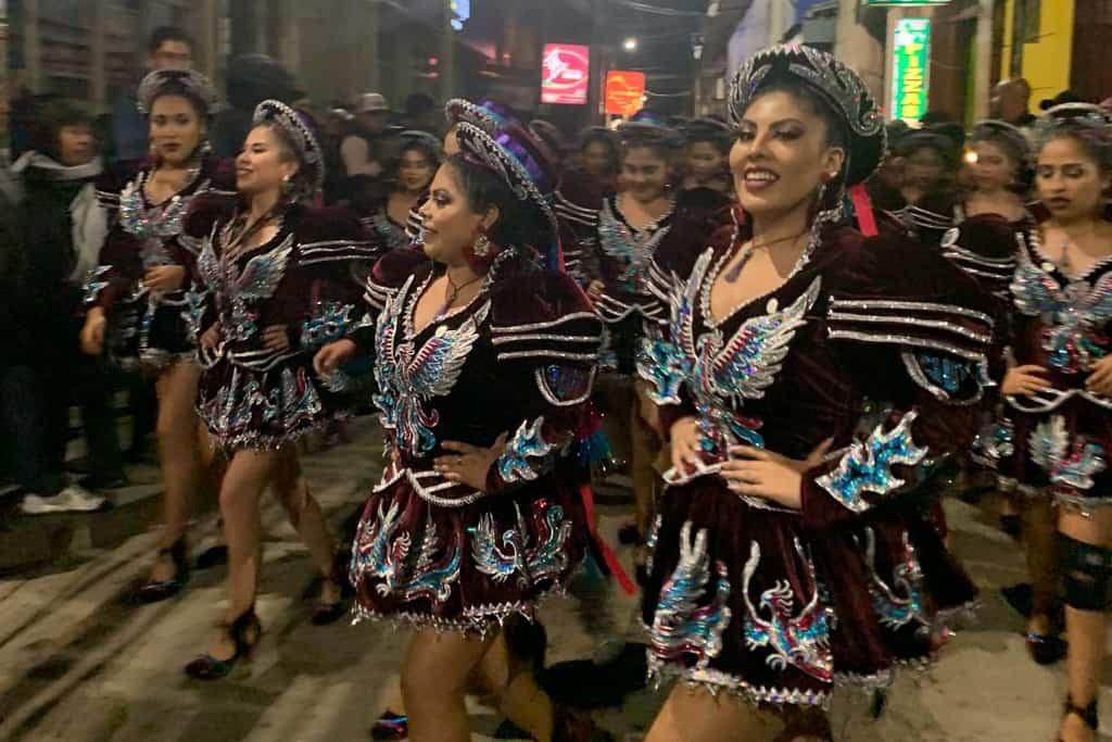 Dancers at the Fiesta de Candelaria.