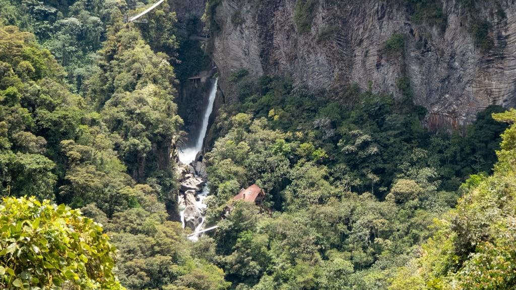 Waterfall scenery near Baños