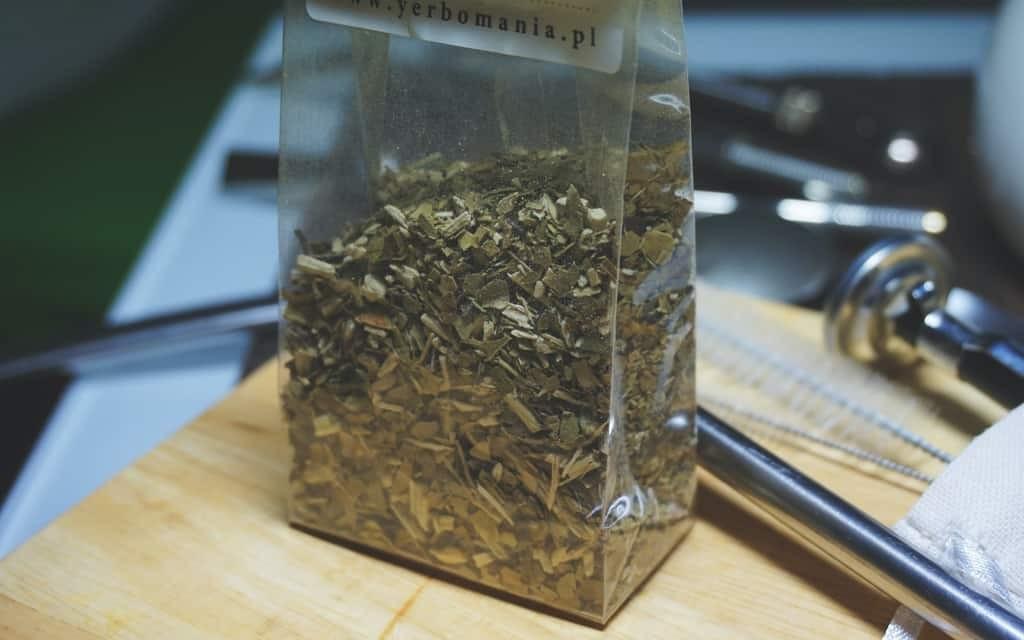 Yerba mate tea in bag