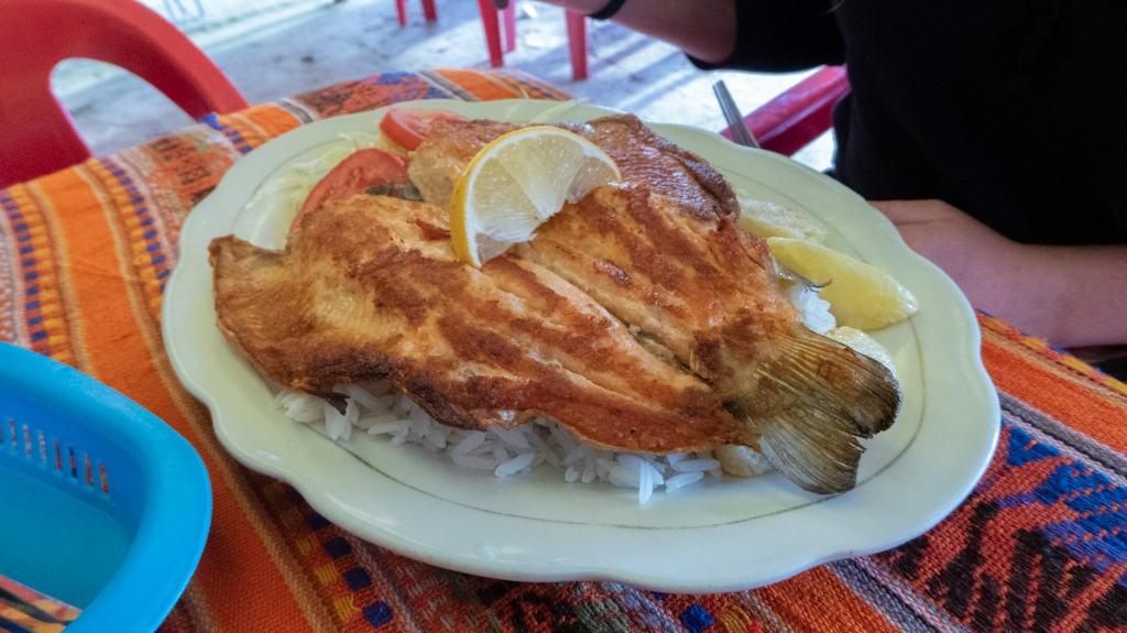 Bolivian trout dish, Copacabana