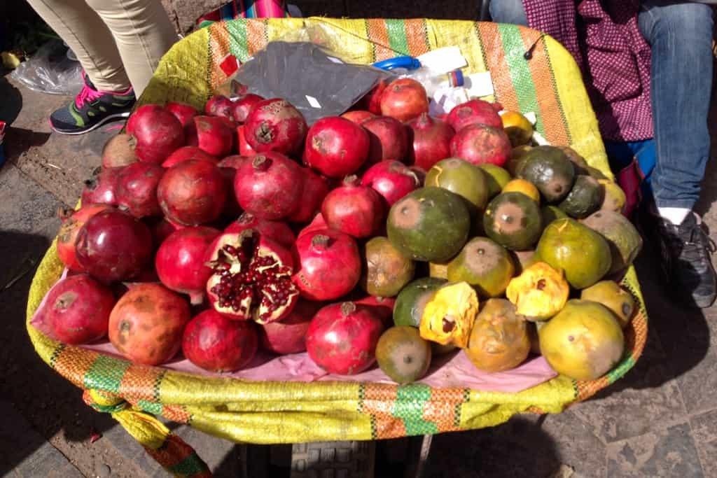 Pomegrante and Lucuma