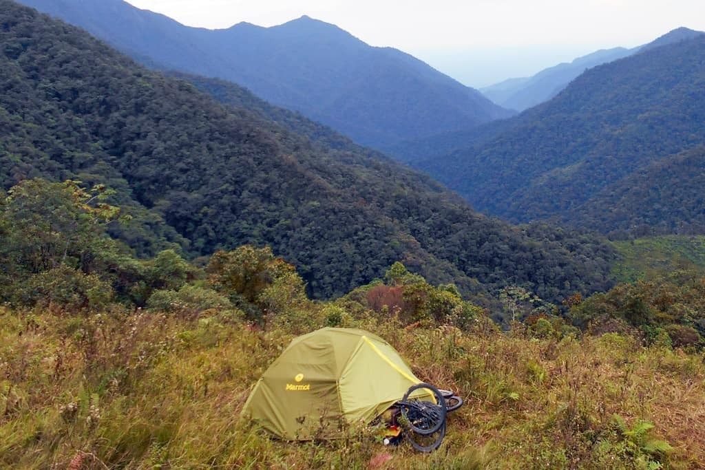 Camping in South America
