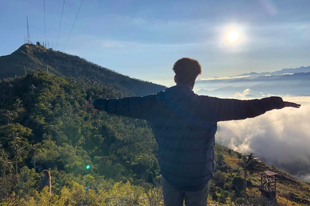 Man looks out over amazing views