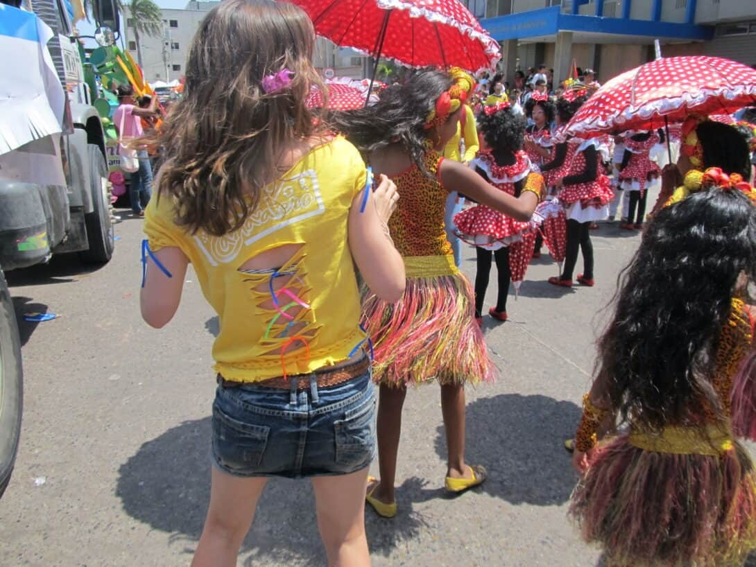 Dancing at carnival in Colombia