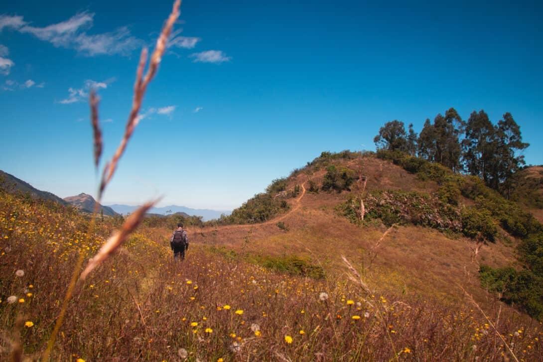 Hiking in Cajamarca, Peru