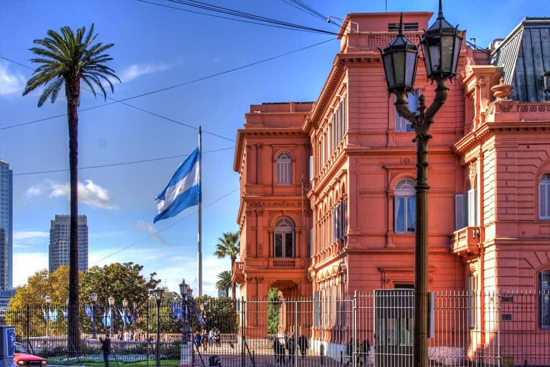 Government building in Buenos Aires, Argentina