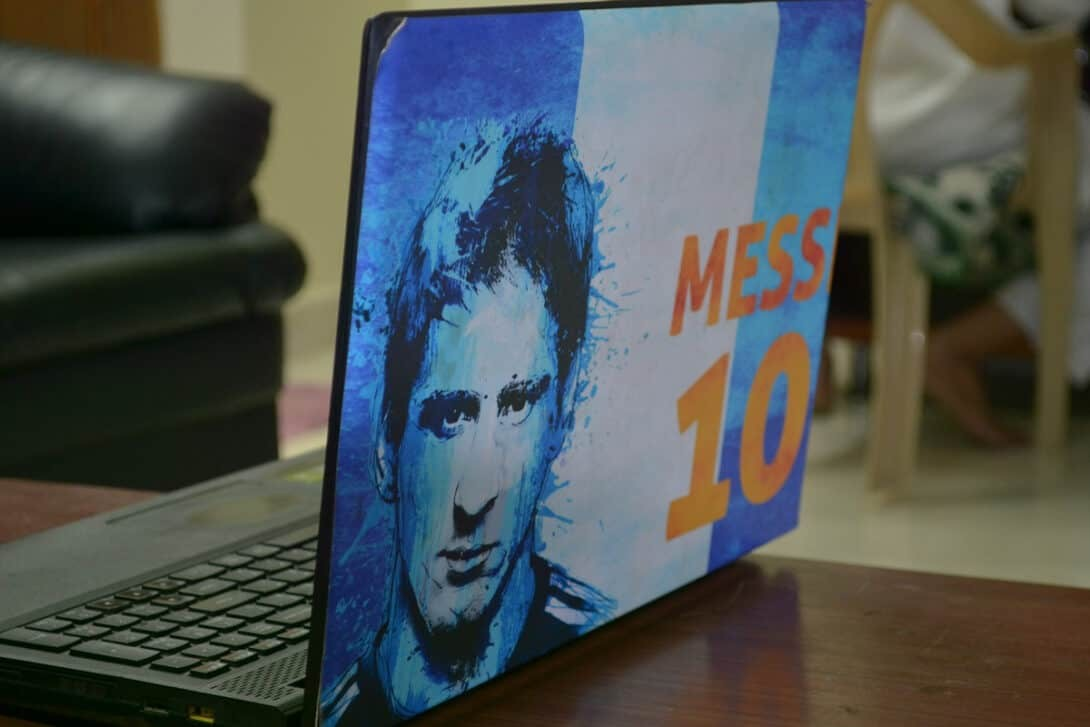Messi laptop cover