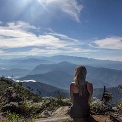 A Girl Looking Across a Valley