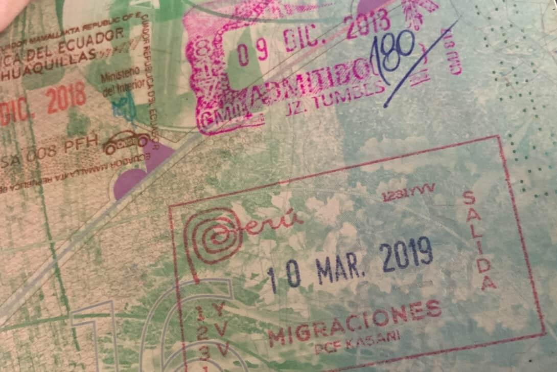 Peru passport stamp
