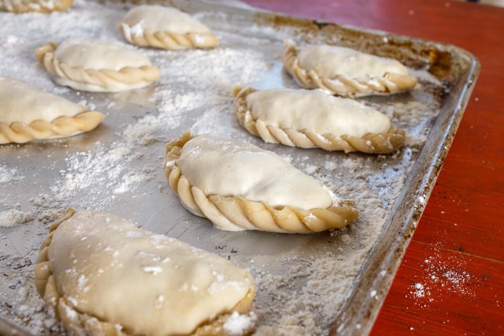 Empanadas waiting to be baked