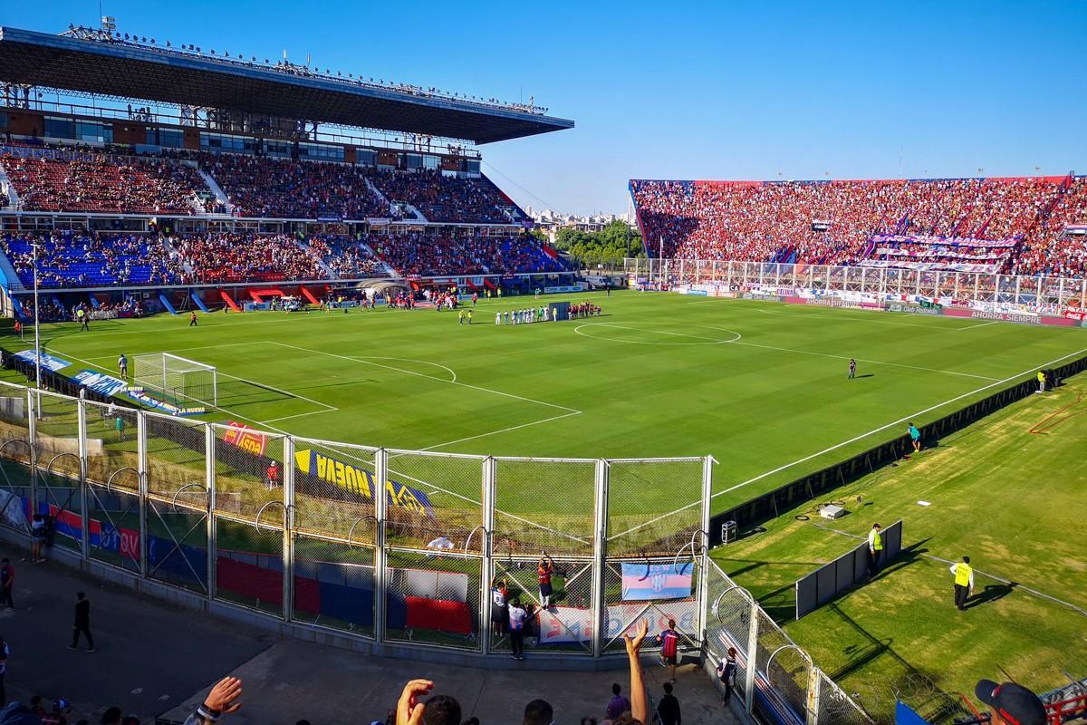 Football stadium in South America
